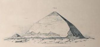 the Bent Pyramid by E.J. Andrews, 1842.